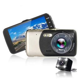 определение горячих точек Скидка 10PCS Профессиональный двойной объектив 4,0-дюймовый 1080P Автомобильная камера с высокой разрешающей способностью Ночного видения Автомобильный видеорегистратор для автомобильного рекордера Автомобильная стирка Горячая продажа