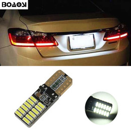 Wholesale Number Plate Lights - BOAOSI Canbus Error Free T10 W5W Car LED License Number Plate Lights Bulbs For Toyota Corolla Avensis Yaris Rav4 Auris Hilux Prius camry