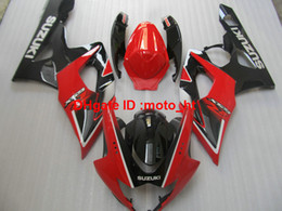 Wholesale Moto Fairings - New hot moto parts fairing kit for Suzuki injection mold GSXR100 2005 2006 red black fairings set GSXR 1000 05 06 YU86