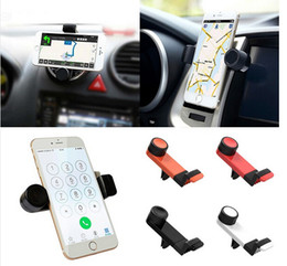 Wholesale Holder Car Telephone - universal 360 Rotating air vent mount stand cradle support telephone mobile car phone holder case for iphone Samsung