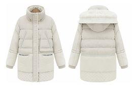 Wholesale Duck Jacket Girl - Hot Sale Large Size Women Coat Thick Down Jacket Down Girls Long Lamb's Wool Jacket Large Size Women's Free Shipping