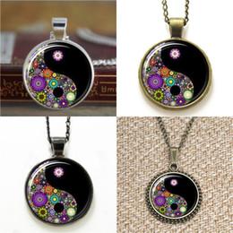 Wholesale Wholesale Millefiori - 10pcs Ying Yang Black Jewelry Millefiori Jewelry Pendant glass Necklace keyring bookmark cufflink earring bracelet