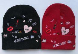 Wholesale Silk Family - Ballin Paris Winter Hats Casual Beanies Warm Solid Knitted Cotton Skullies Cap For Men Women Hat Fashion paris Beanie Family Gorro Bonnet