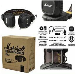 Wholesale Dj Wireless - Marshall Major headphones Clone With Mic Deep Bass DJ Hi-Fi Headphone HiFi Headset Professional DJ Monitor Headphone