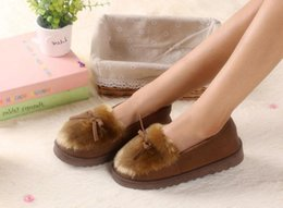 Wholesale Ballet Flats Animal Print - 2017 Autumn Winter Women Ballet Flats Lovely Bow Warm Fur Comfort Cotton Shoes Woman Loafers Slip On