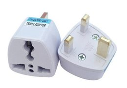 Wholesale Electrical Connectors Free Shipping - Universal Travel Charger Adapter AU EU US To UK Plug Adapter Convert AC Power Electrical Plug Adaptador Connector DHL FREE SHIPPING