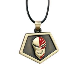 blanchiment du cuir Promotion Bleach Anime Kurosaki Ichigo Bronze Pendentif En Cuir Chaîne Colliers Pendentifs Pour Cadeau Vente Chaude De Haute Qualité