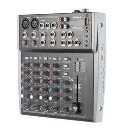 Wholesale Dj Powered Mixer Console - Freeshipping 8 Channels 3-Band EQ Audio Music Mixer Mixing Console with USB XLR LINE Input 48V Phantom Power for Recording DJ Stage Karaoke