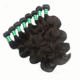 Wholesale Mix Length Cheap Virgin Hair - Cheap Brazilian Hair Body wave 12~30inch Mix Length 8pcs lot Color 2# Dark Brown100% Virgin Human Hair Brazilian Body Wave