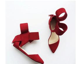 pisos negros arco rojo Rebajas Rojo Negro Rosa Mariposa Sandalias de verano para las mujeres Pisos Pajarita Cuero genuino Primavera Verano Pisos casuales Sólidos zapatos individuales T Show Sandal