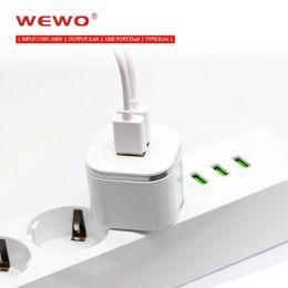 Accesorios originales para celular online-WEWO original 5V 2.4A cargadores de teléfono rápidos Puertos usb duales Cargador de teléfono portátil i para viajes en casa Accesorios de alta calidad para teléfonos celulares