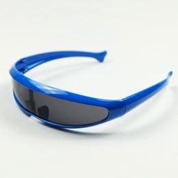Wholesale Fishing Sunglasses - Wholesale Strange Fish Shape Adult Size Alien Man Style Full Lenses Sunglasses With UV400 Family Toy Eyewear 20pcs Lot
