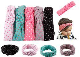 Wholesale Cross Wrap Hair - Baby Kids Knot Headbands Braided Headwrap Polka Dot Cross Knot Baby Turban Tie Knot Head wrap Children's Hair Accessories 12pcs