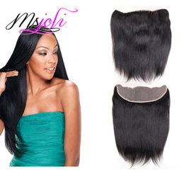 Wholesale Black Beauty Weave - Brazilian virgin human hair 13x4 lace frontal weaves beauty hair straight natural black 3 part from MsJoli for your beauty