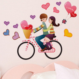 Wholesale Lovers Wall Decal - Wall Stickers Lovers Decorative Wall Decoration Decals Home Decor 3D Poster for Kids Rooms Adhesive To Removable with Decals