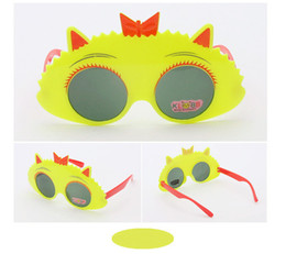 Wholesale Cool Baby Sunglasses - 2017 Fashion Round Cute Brand Designer Child Sunglasses Anti-uv Baby Vintage Glasses Girl Cool Eyewear Boys Kids Oculos