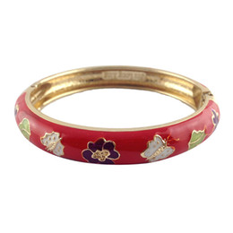 Wholesale Valentine Butterflies - beauty Flower and Butterfly style Elegant Bangles Women metal Accessories Fashion Jewelry many Colour Valentine Day Gifts A067