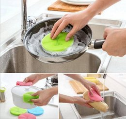 Wholesale Dish Wash Pads - Creative Silicone Cleaning Brushes Coffee Cup Mat Insulation Pads Dish Bowl Scouring Pad Pot Pan Wash Brush,Household Cleaning Tools