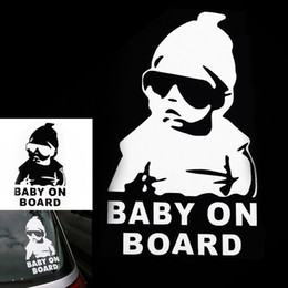 Wholesale baby board sticker car - Small Size Reflective Car Sticker Cool Baby on Board Car Styling Motorcycle Sticker Vinyl Decal Personalized Waterproof 21cm Height CEA_30X