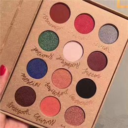 Wholesale Eyeshadow Palette Fashion Cosmetics - Brand makeup Hight Quality 12 Colors Eyeshadow Palette Luminous Eyes Makeup Beauty woman Cosmetics Super fashion kyli eye shadow