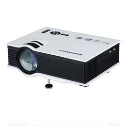 Excelvan mini projecteur led en Ligne-Gros-Excelvan UC40 800 Lumens Portable Mini Projecteur LED Multimédia Home Cinéma Théâtre 800 * 480RGB USB / AV / SD / HDMI 3.5mm Audio Out EU