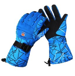 Wholesale Running Mittens - Durable Waterproof Gloves Winter Warmer Thick Glove For Men Women Motor Outdoor Sports Cycling Hiking Driving (1 Pair)
