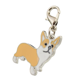 Wholesale Souvenir Items Wholesale - New Novelty Items Fashion Metal Corgi Animal Pet Dog Keychain Keyring Trinket for Women Girls Gift Souvenir Decoration