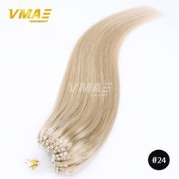 Wholesale Micro Link Loop Extension - micro loop hair extensions 100pcs pack silky straight 1g strand 100g lot brazilian human hair micro ring links hair extensions