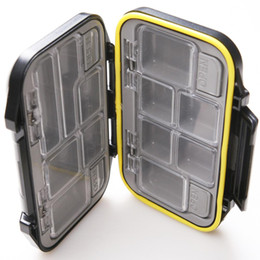 Wholesale Plastic Fishing Tackle Box - Plastic Fishing Fish Lure Spoon Hook Bait Tackle Waterproof Black Case Box F00176 SMR