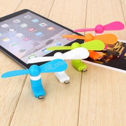 Wholesale Small Portable Fans Wholesale - 6 Colors Cell Phone USB Mini Fan Flexible Small-scale Portable Super Mute Cooler Cooling For Samsung Huawei Android Smart Phones