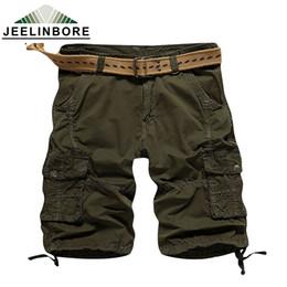 Wholesale Men S Work Clothing - Wholesale-2016 Cargo Shorts Men Hot Sale Casual Camouflage Summer Brand Clothing Fashion Army Work Shorts Men Cotton 5 Color Plus Size