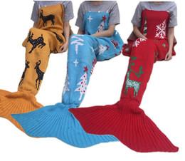 Wholesale Custom Quilts - Christmas Customs Mermaid Tail Blanket Children Hold Swaddling For Kids Envelope For Child Sleeping Bag Pajamas Sofa Quilt