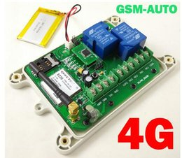 Wholesale Sms Gate Control - Wholesale- weatherproof IP65 4G GSM and SMS gate door opener QUAD 4G GSM BAND remote control module 100 users home industrail automation