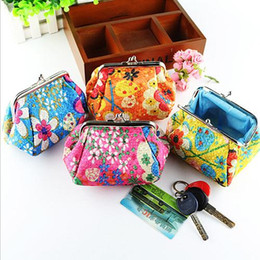 Wholesale Cute Key Pouch - Wholesale- Fashion New Women Fashion Cute Embroidered Case Wallet Card Keys Pouch Coin Purse BVO9