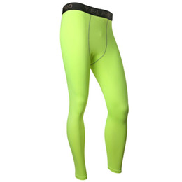 Wholesale Skin Hot Pants - Wholesale-Hot Selling Men Compression Base Layer Pants Long Tight Under Skin swear Gear Bottom