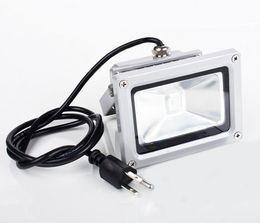 2019 tomada exterior plug inundação Atacado- (10pcs / lot) 10W 20W 30W 50W LED Projector Lâmpada de inundação LED exterior 85V-265V lavagem luz de inundação branco / quente / rgb com ficha de alimentação tomada exterior plug inundação barato