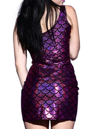 Wholesale Wholesale Work Dresses For Women - Wholesale- E171 Mermaid Fashion Dress Purple Color Sexy Wrapped Dress Slim Summer Sleeveless Dress For 2015 Drop Ship Mermaid