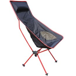 Wholesale Red Beach Chair - Wholesale- Red Traveling light line Folding chair armchair outdoor leisure camping portable fishing chair armchair beach chair