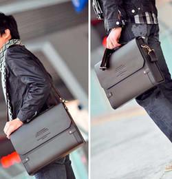 Wholesale Vintage Mens Leather Briefcase - Leather Men Bag Casual Business Leather Mens Messenger Bag Vintage Men's Crossbody Bag bolsas male Briefcases