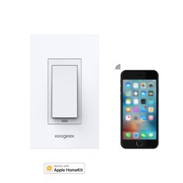 Wholesale Switch Control Wall - Koogeek Wi-Fi Enabled Smart Light Wall Switch Works with Apple HomeKit Support Siri Remote Control One-way Single Pole KH01