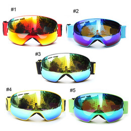 Wholesale Double Lens Snowboard Ski Goggles - Be Nice Double Lens UV400 Anti-Fog Large Spherical Skiing Glasses Winter Sport Protective Snowboard Skiing Eyewear Sport Goggles 2523001