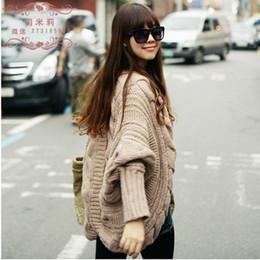 Wholesale Camel Cardigan - Wholesale-Free shipping New Fashion 2016 Women Autumn Winter Cardigans Black Beige Pink Gray Camel Loose Shrugs Sweater