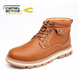 Wholesale Camel Winter - Wholesale- Camel active Fashion Lace Up Men Ankle Boots Nubuck Leather Men Boots Autumn Winter Boots Men Casual Shoes