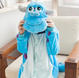 Wholesale Sullivan Costume - James P. Sullivan Cosplay Costume Anime Monsters Pajama Carnival Masquerade Party Show Fantasy Jumpsuits Animal Clothes Adult