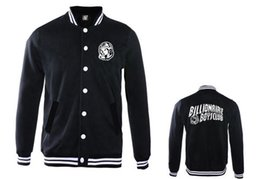 Wholesale Mans Brand Names Clothing - BILLIONAIRE BOYS CLUB brand name fashion BBC baseball jackets for men free shipping outwear coat new hip hop mens clothing free shipping
