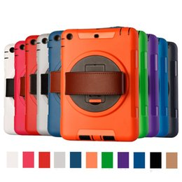 Wholesale Ipad Tpu Pc Case - Tablet PC Cases 3 in 1 Defender waterproof shockproof Robot Case military Heavy Duty TPU PC cases cover for ipad mini 123