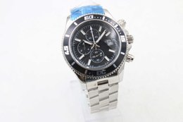 Wholesale Luxury Watches Superocean - Hot Sale Old Brand New Arrival Quartz Chronograph Men's watch Superocean A17384 Black Dial Number Bezel Platinum Skeleton Stainless Watch