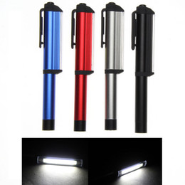 Wholesale Cree Magnetic - 300LM Aluminum LED COB CREE Pen Pocket Torch Lamp Magnetic Inspection Work Lamp Surgical Doctor Emergency Reusable
