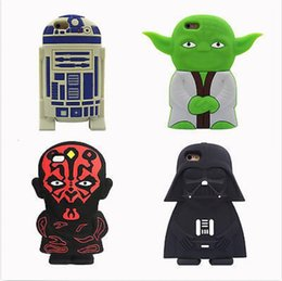 Wholesale Iphone 3d Alien Cases - 3D Cartoon star wars extraterrestrial alien robot Soft silicone case For Iphone 5C 5S 6S 6S Plus 7 7 Plus