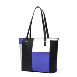 Wholesale Nylon Zipper Manufacturers - Wholesale manufacturers new stitching Bags Bag Tote Bag trend of Korean lady